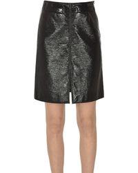 Courreges Vinyl Mini Skirt - Black