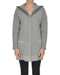 Anneclaire - Textured Knit Cardigan - Lyst