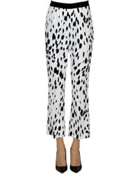 Twin Set - Spotted Cotton Trousers - Lyst
