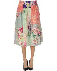 Etro Printed Cotton Midi Skirt - Multicolor