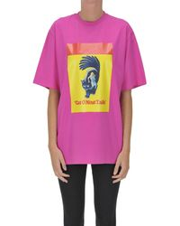 MSGM T-shirt stampata by Dario Argento - Rosa