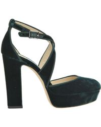 5355aad0d2d4b6 Jimmy Choo - Joyce Velvet Court Shoes - Lyst
