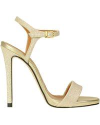 Marc Ellis Glittered Sandals - Metallic