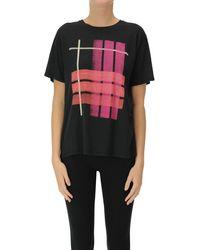 6397 T-shirt stampata in cotone - Nero