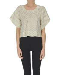 Bellerose Cropped Cotton Top - Natural
