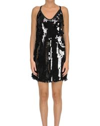 Motel Sequined Dress - Black