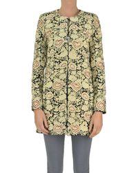 Alice + Olivia - Damask Cloth Coat - Lyst