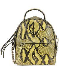 Orciani Petit Python Leather Mini Backpack - Yellow