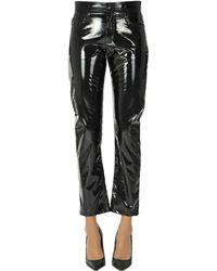 N°21 Vinyl Trousers - Black