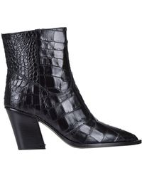 KATE CATE Stivali texani in pelle stampa coccodrillo - Nero