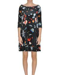 Zoe - Printed Velvet Dress - Lyst