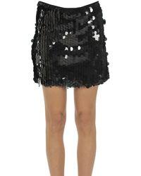 Motel Sequined Mini Skirt - Black