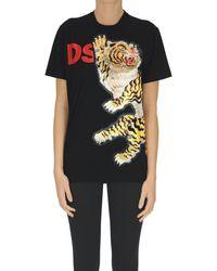 DSquared² T-shirt con applicazione - Nero