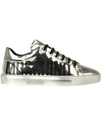 Moschino Sneakers in pelle metallizzata - Metallizzato