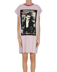 Acne Studios Maxi T-shirt Dress - Purple