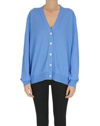 N°21 Cardigan in lana vergine - Blu