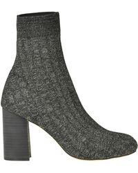 Maliparmi Metallic Effect Knit Ankle-boots