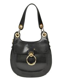 Chloé Tess Leather Hobo Bag - Black