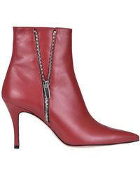 Roberto Festa Leather Ankle-boots - Red