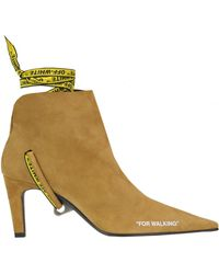 Off-White c/o Virgil Abloh 'for Walking' Suede Ankle-boots - Brown