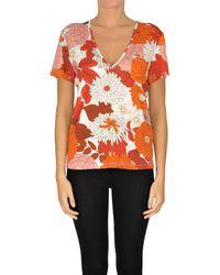 Dodo Bar Or Flower Print Jersey T-shirt - Orange