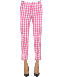 Love Moschino - Vichy Print Trousers - Lyst