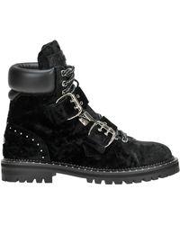 Jimmy Choo - Breeze Velvet Lace-up Boots - Lyst