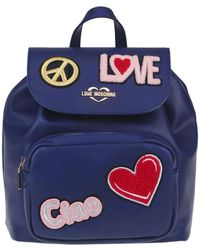 Love Moschino Eco-leather Backpack - Blue
