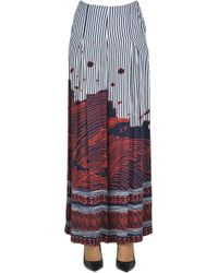 5preview - Printed Viscose Trousers - Lyst
