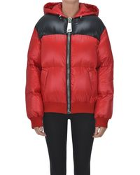 Moschino Quilted Down Jacket - Red