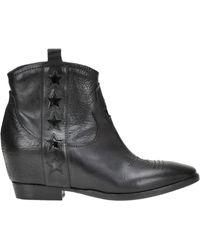 Lemarè - Patent-leather Stars Texan Boots - Lyst