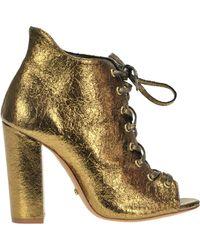 Schutz - Open-toe Lace-ups Boots - Lyst