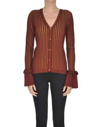 Suoli - Striped Cardigan With Lurex - Lyst