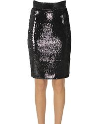 Dondup Sequined Pencil Skirt - Black