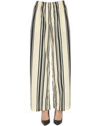 Aspesi Striped Cotton Pants - Black