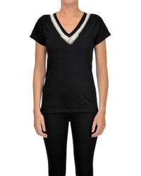 Sweet Matilda - Embellished Cotton T-shirt - Lyst