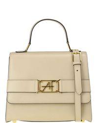 Alberta Ferretti Leather Bag - Natural