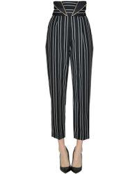 Elisabetta Franchi - Striped Trousers - Lyst