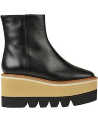 Paloma Barceló Muna Leather Wedge Ankle-boots - Black