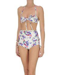 Isabel Marant Bikini stampa floreale - Bianco