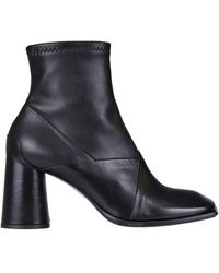 Malloni Leather Ankle-boots - Black