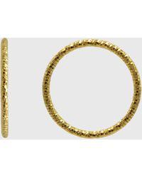 Glassworks Gold Hammered Thin Band - Metallic