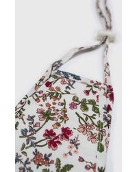 Glassworks White And Red Multi Floral Pure Cotton Face Mask