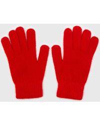 Glassworks Bright Red Mohair Gloves