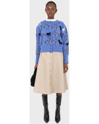 Glassworks Beige Vegan Leather Contrast Stitch Button Maxi Skirt - Natural