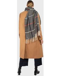 Glassworks Camel Double Breasted Wool Belted Long Coat - Multicolour