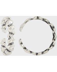 Glassworks Silver Mini Hearts Ring - Multicolour