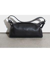 Glassworks Black Vegan Leather Shoulder Bag