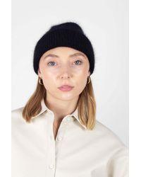 Glassworks Black Mohair Beanie Hat