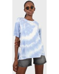 Glassworks Blue And White Tie Dye T-shirt